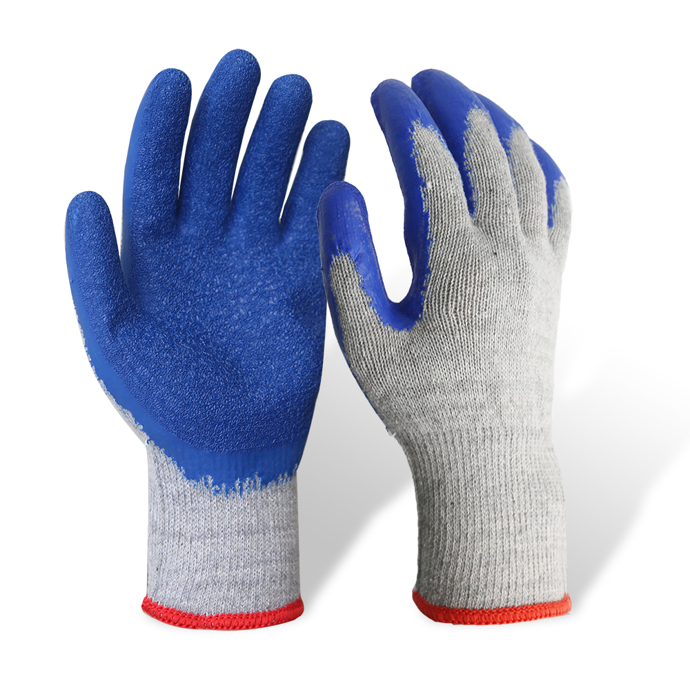 Latex Coated String Knit Safety Work Gloves/LCG-06