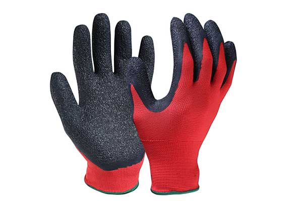 Latex Coated Nylon/Polyester Safety Work Gloves/LCG-01