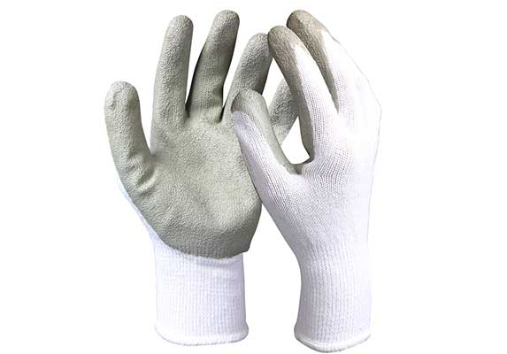 Latex Coated Cotton/Polyester Safety Work Gloves/LCG-02