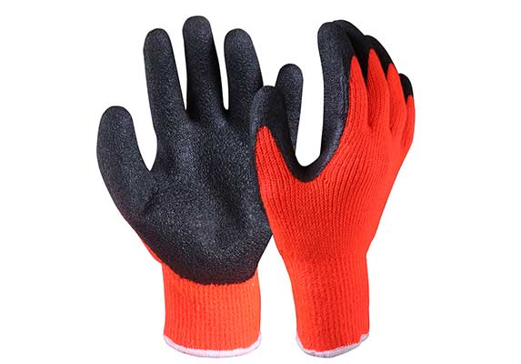 Latex Coated Acrylic Terry Knit Liner Gloves/LCG-003