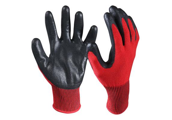 CRG-03-R Nitrile Coated Cut Resistant Gloves