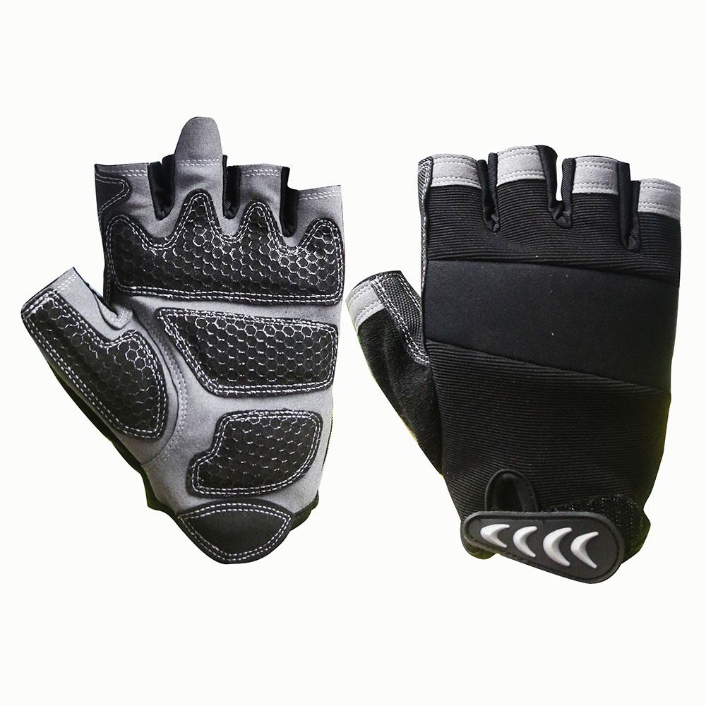 Fingerless Mechanic Safety Work Gloves/MSG-005