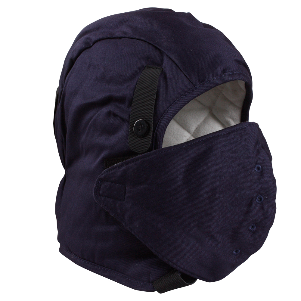 Fire Resistant Dark Blue Hard Hat Liner with Mask/HHL-001