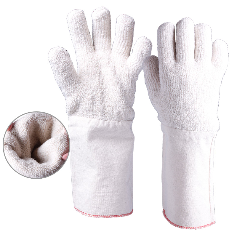 Terry Loop Heat Resistant Gloves with Long Cuff/TLG-004