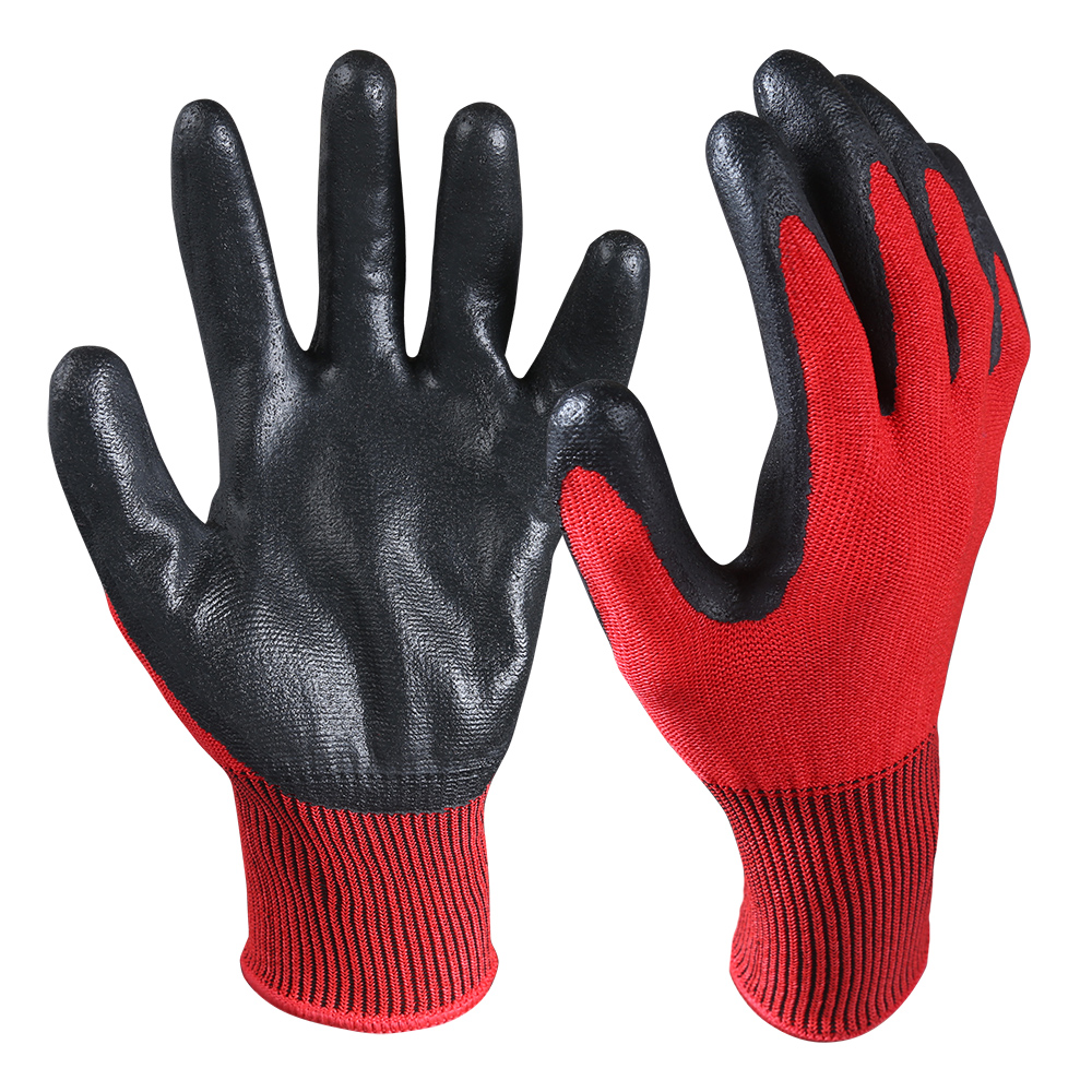 CRG-03-R Nitrile Coated Cut Resistant Gloves