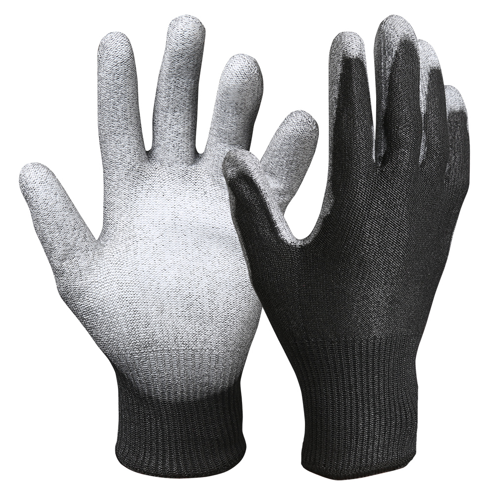 PU Coated Cut Resistant Safety Work Gloves/CRG-02-B