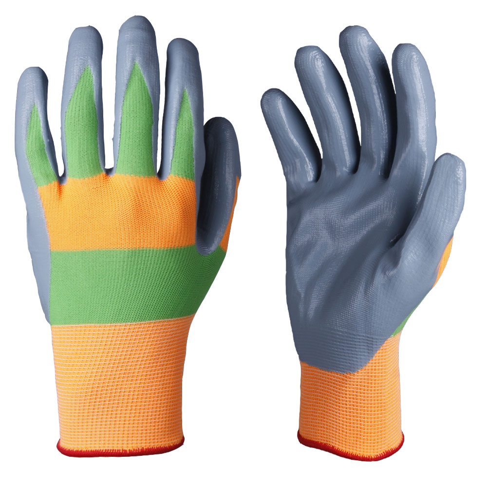 Nitrile Coated Safety Work Gloves/NCG-004