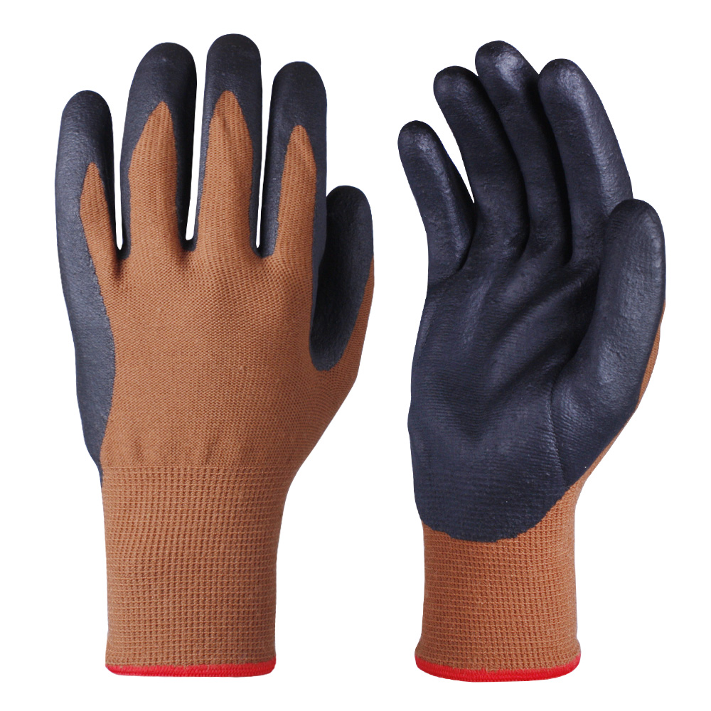 Nitrile Coated Safety Work Gloves/NCG-010