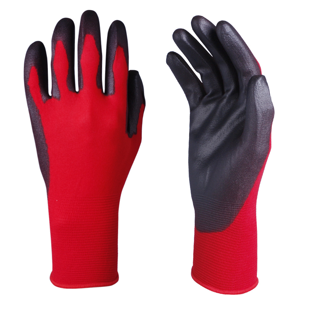 PU Dipped Safety Work Glove/PCG-006