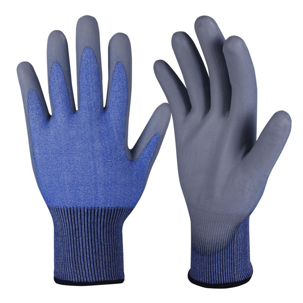 PU Dipped Safety Work Gloves/PCG-007