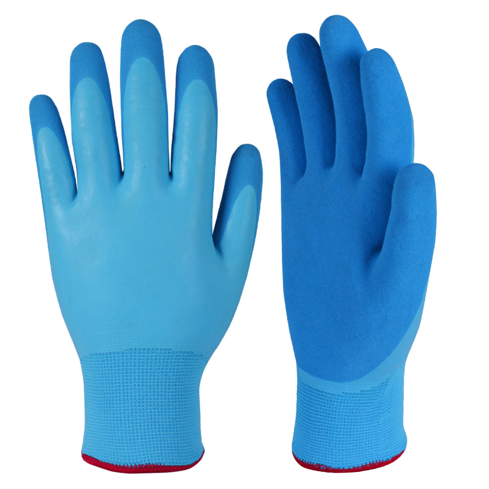 Latex Coated Safety Work Gloves/LCG-008