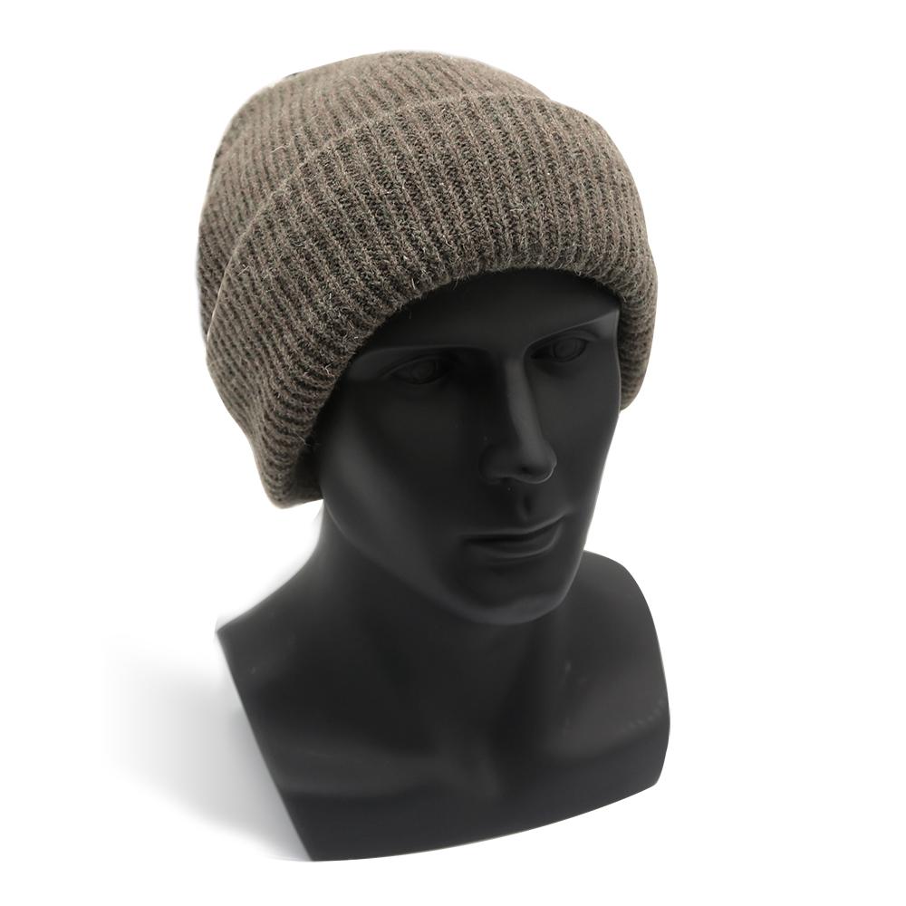 Beige Shetland Wool Hat/WKR-008