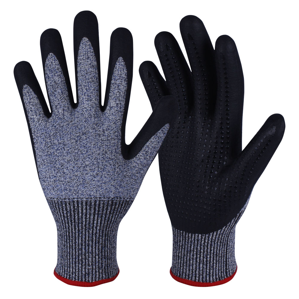Nitrile Coated Safety Work Gloves/NCG-030