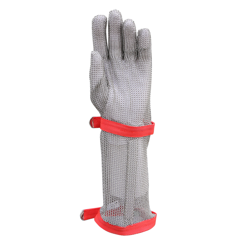 Stainless Steel Mesh Safety Work Gloves with Long Cuff/SMG-003