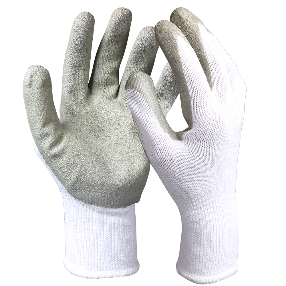Latex Coated Cotton/Polyester Safety Work Gloves/LCG-002