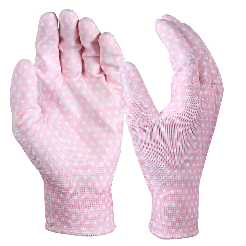 PU Coated Garden Safety Work Gloves/PCG-02-2