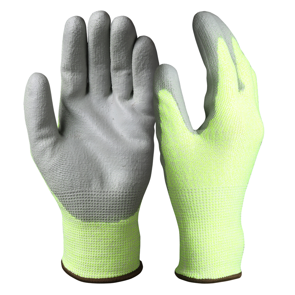 PU Dipped Cut Resistant Safety Work Gloves/PCG-04-2