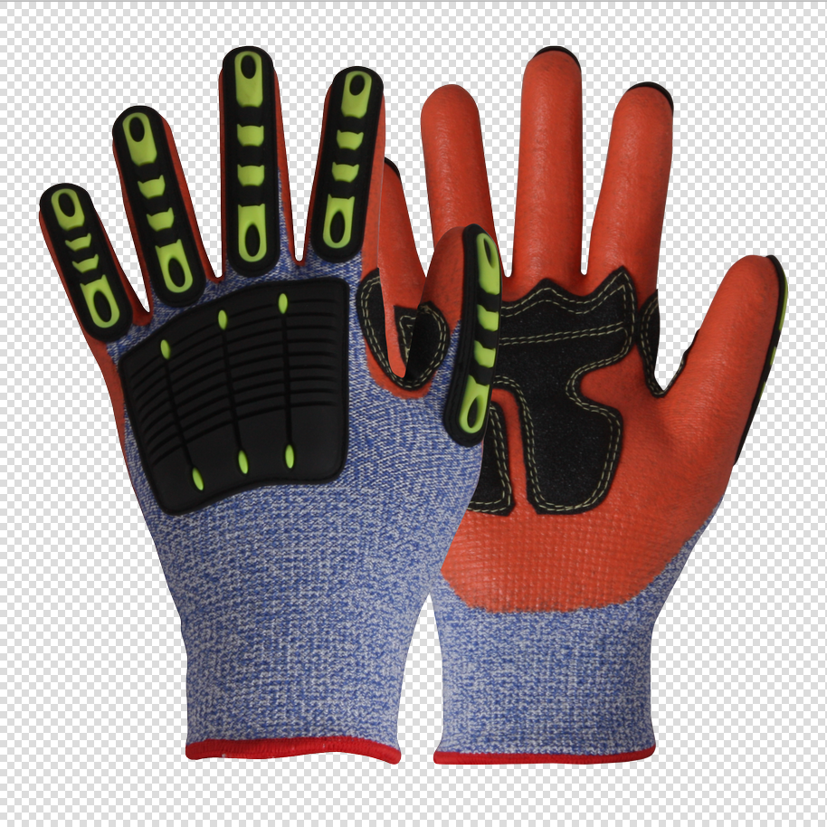 Impact Hi- Vis Safety Work Gloves/IPG-004