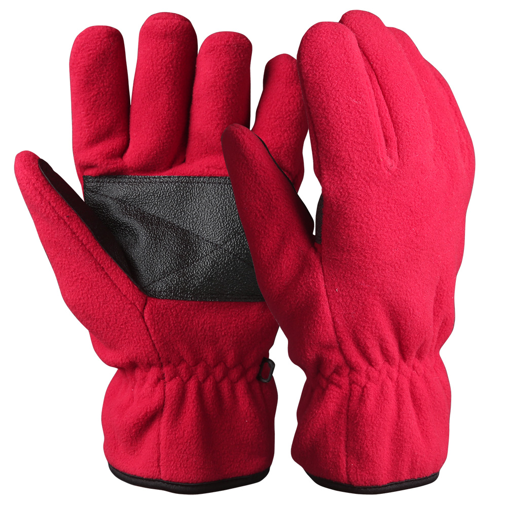 Full Finger Fleece Safety Work Gloves/WKR-001-R