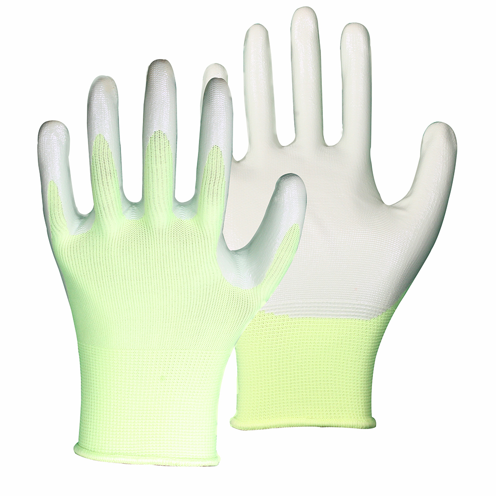 PU Coated High Visibility Safety Work Gloves/PCG-03