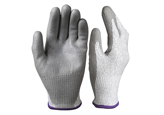 PU Dipped Cut Resistant Safety Work Gloves/PCG-04-1