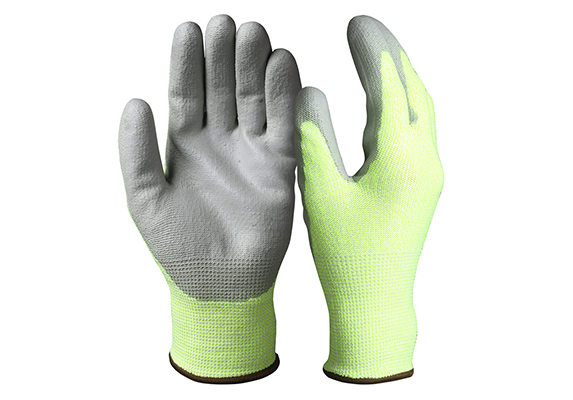 PU Coated Cut Resistant Safety Work Gloves/PCG-04-2