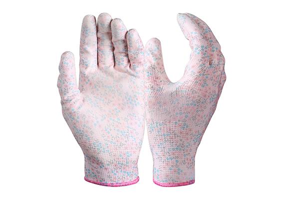 PU Coated Garden Safety Work Gloves/PCG-02-3