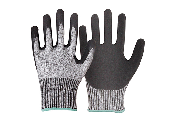 Nitrile Coated Cut Resistant Safety Work Gloves/CRG-06