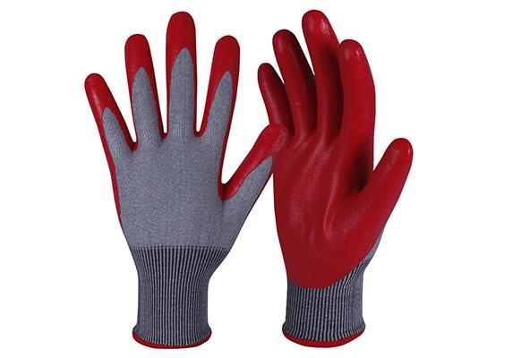 Nitrile Coated Safety Work Gloves/NCG-025