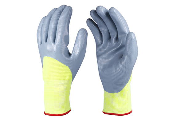 Nitrile Coated Safety Work Gloves/NCG-016