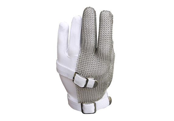 Stainless Steel Mesh Three Finger Safety Work Gloves/SMG-002