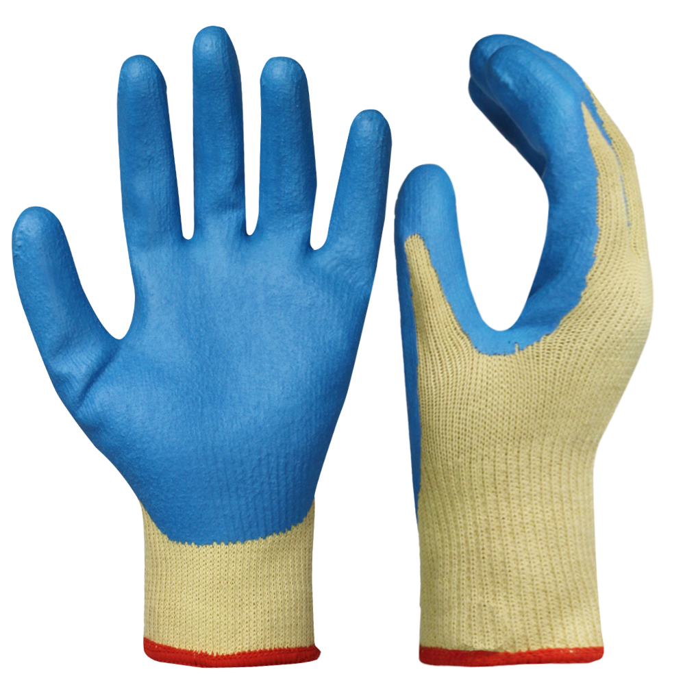 Latex Coated Kevlar Gloves/LCG-010