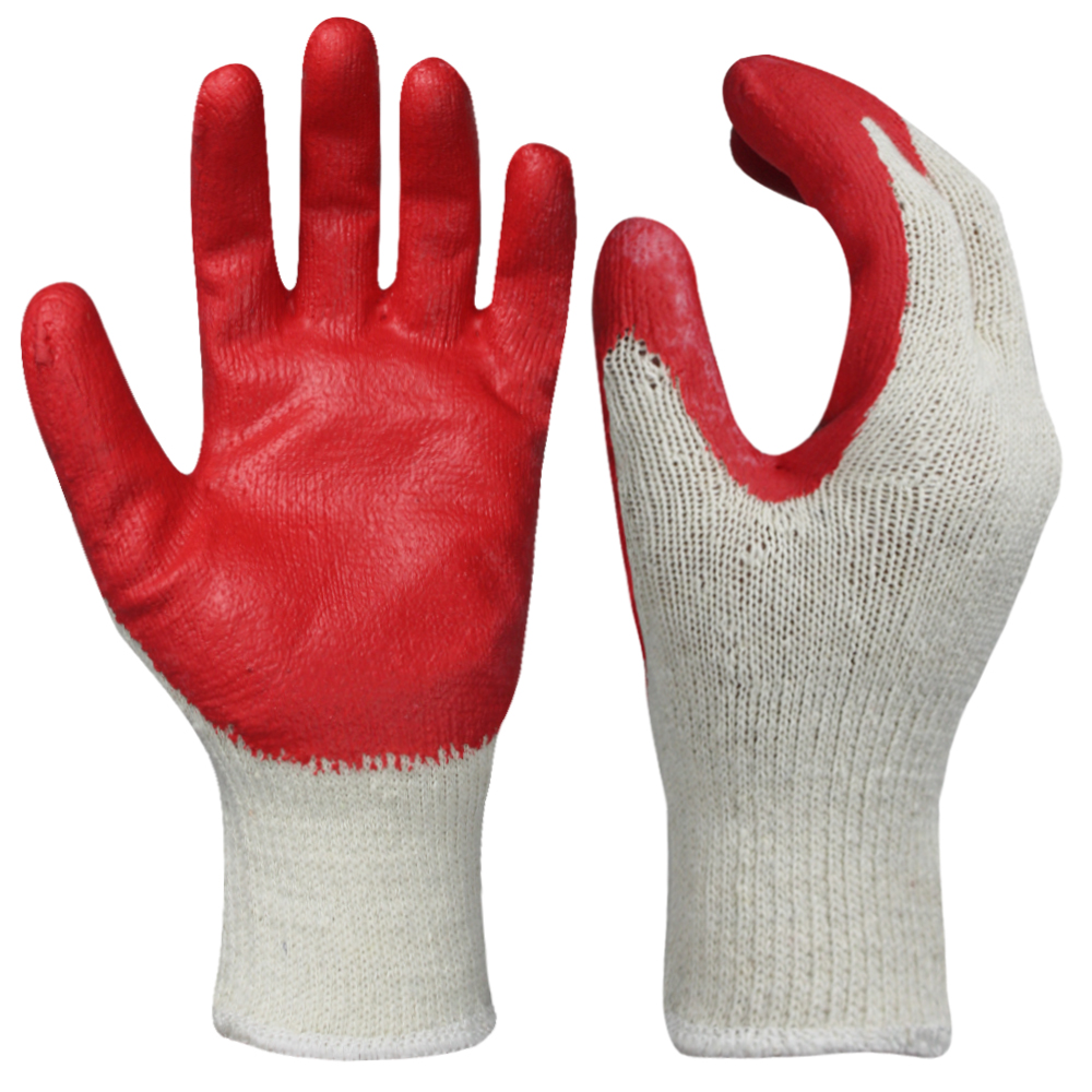 Latex Coated Cotton Safety Work Gloves/LCG-011