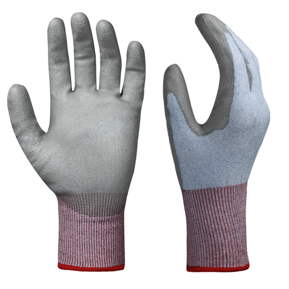 PU Coated Cut Resistant Gloves/CRG-013