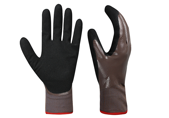 Nitrile Coated Safety Work Gloves/NCG-026