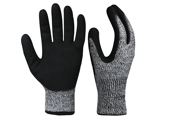 Double Layer HPPE Cut Resistant Safety Work Gloves/CRG-017