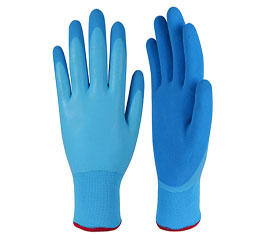 Why do Latex Coated Gloves' Color Change and Turn Yellow?