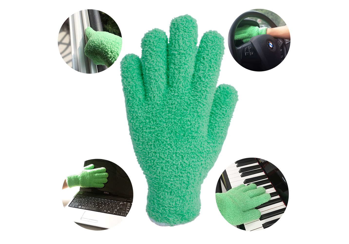 100% Polyester Microfiber Dust Cleaning Gloves/DCG-001