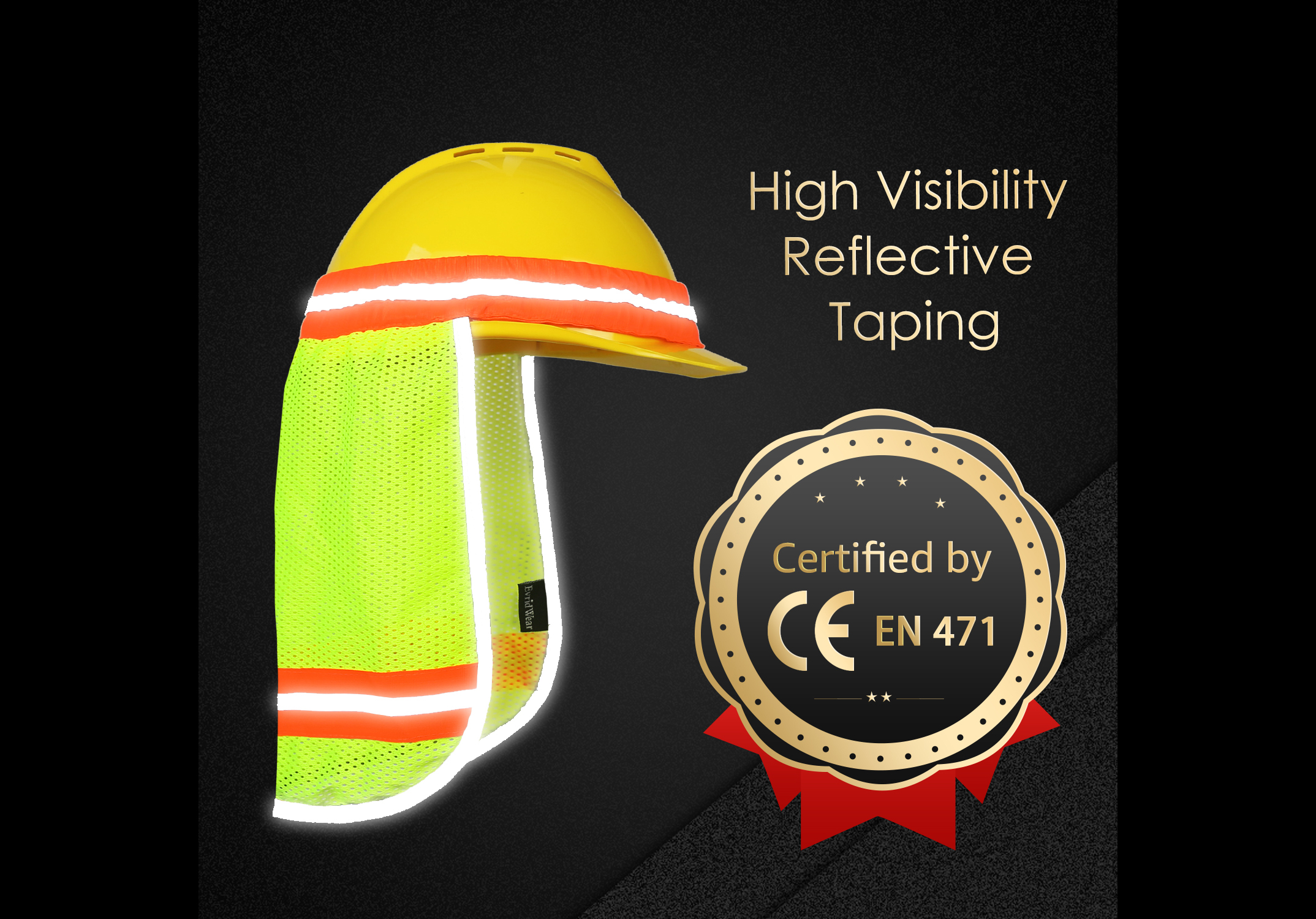 High Visibility Neck Sun Shield with Reflective Stripe/NSS-002