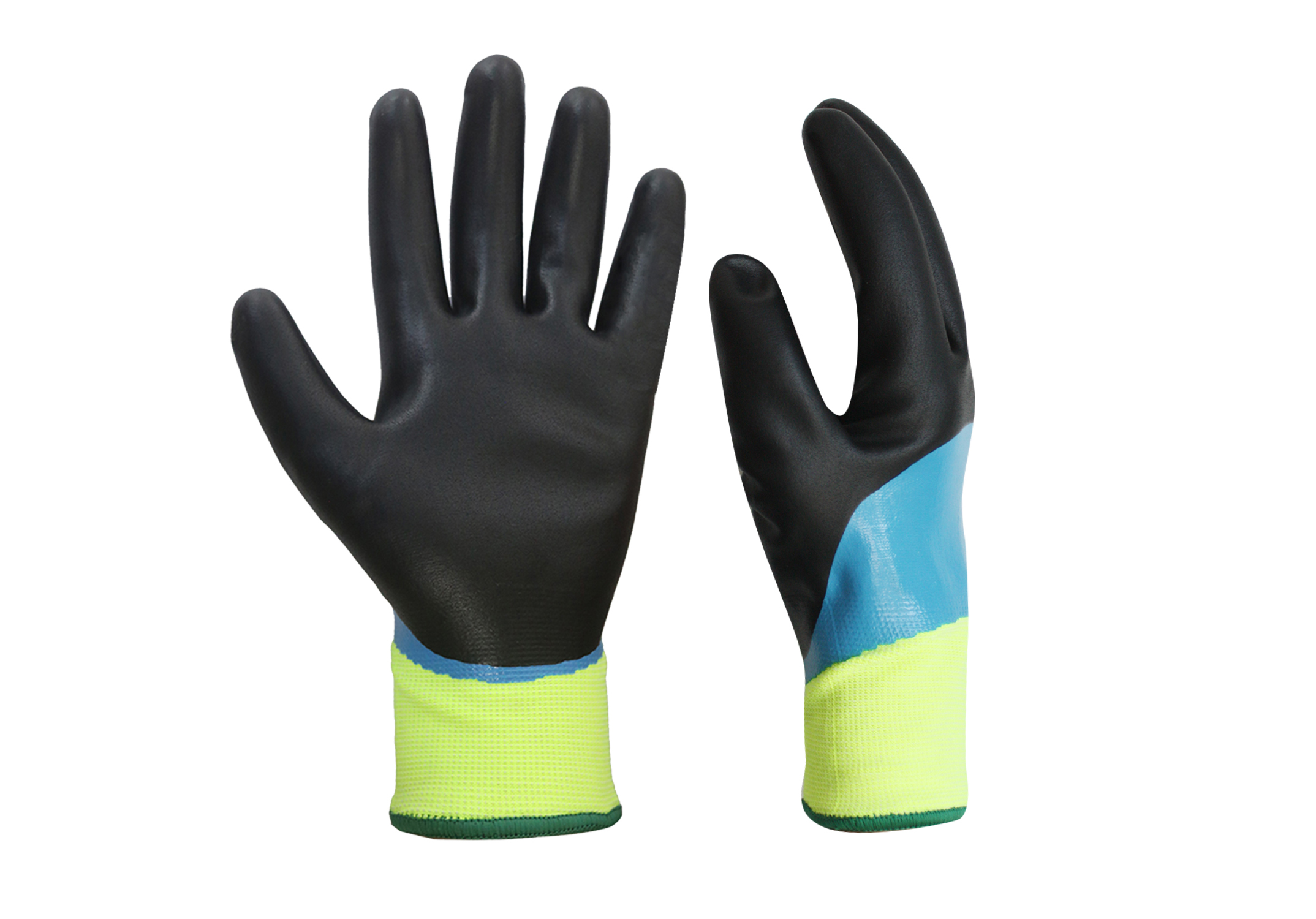 Double Nitrile Coated Waterproof Safety Work Gloves/WPG-003