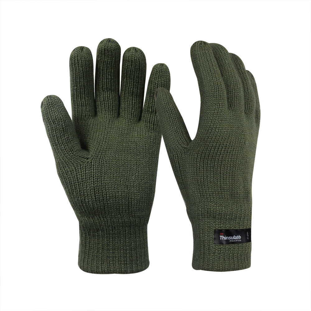 Wool/Acrylic Double Knit Gloves with 3M Thinsulate Lining/IWG-013-O