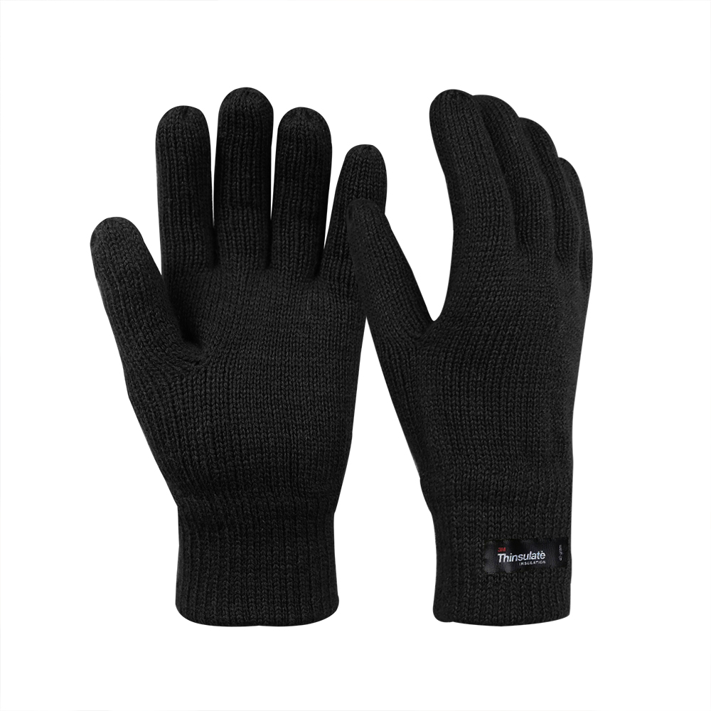 Wool/Acrylic Double Knit Gloves with 3M Thinsulate Lining/IWG-013-B