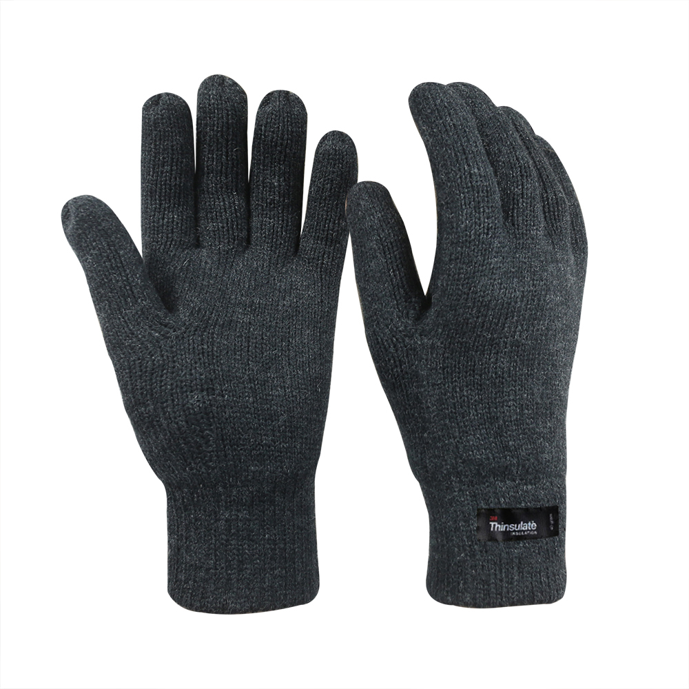 Wool/Acrylic Double Knit Gloves with 3M Thinsulate Lining/IWG-013-G