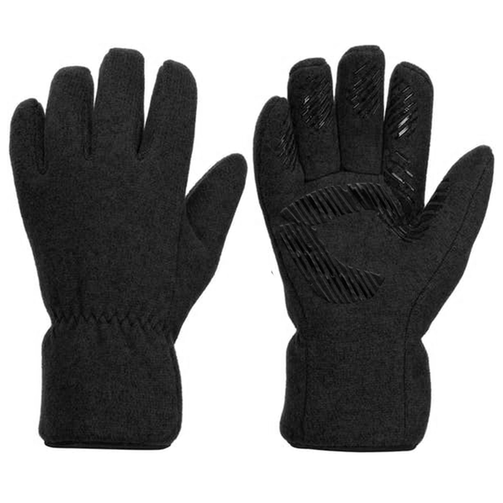 Polyester Fleece Glove with Silicone on Palm and Thumb/IWG-027