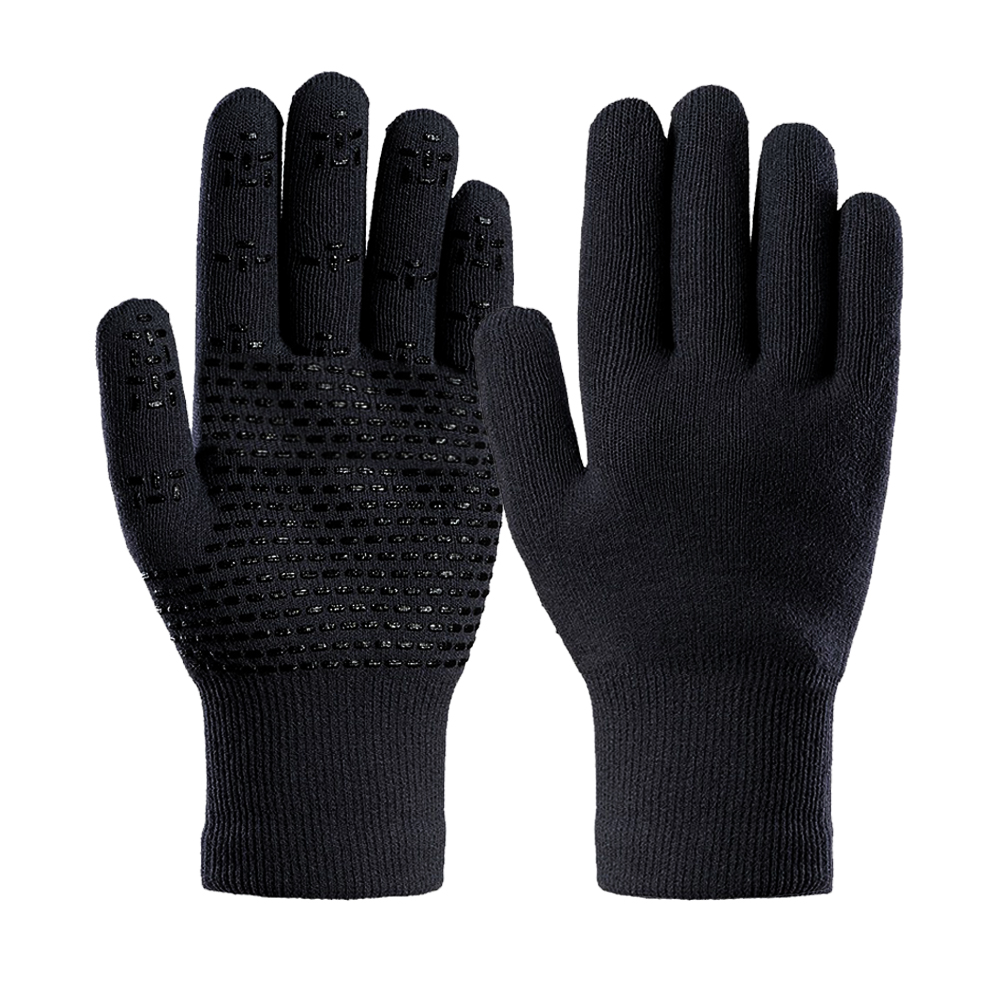 Merino Wool Gloves with Silicone on Palm/MWG-005