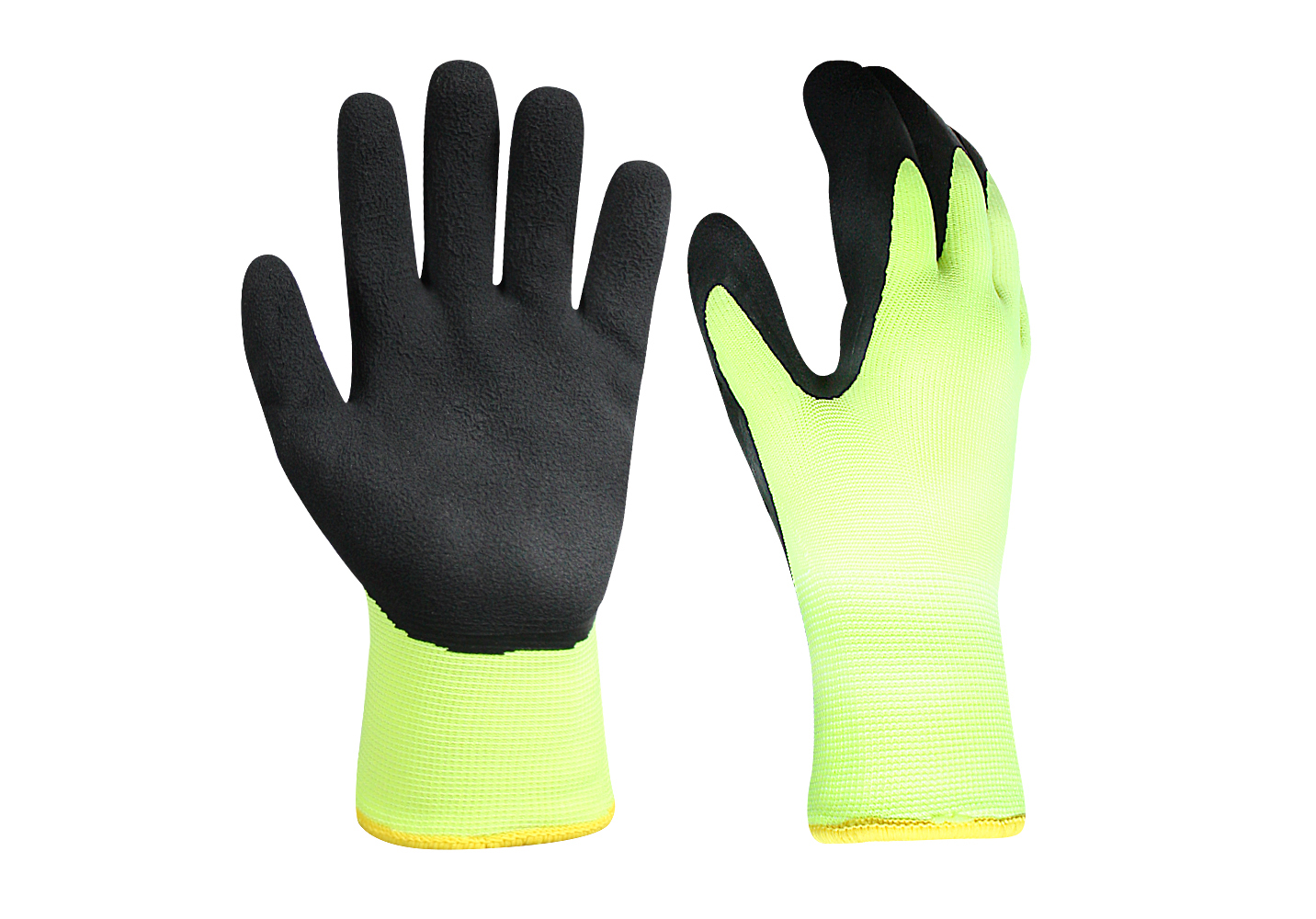 Latex Coated Acrylic Gloves with Terry Loop lining/LCG-013