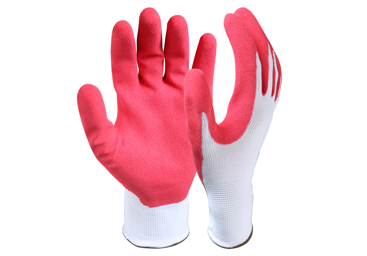 Latex Coated Nylon/Polyester Safety Work Gloves/LCG-001