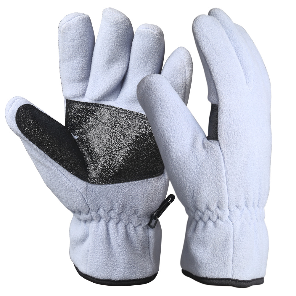 Full Finger Fleece Safety Work Gloves/WKR-001-W
