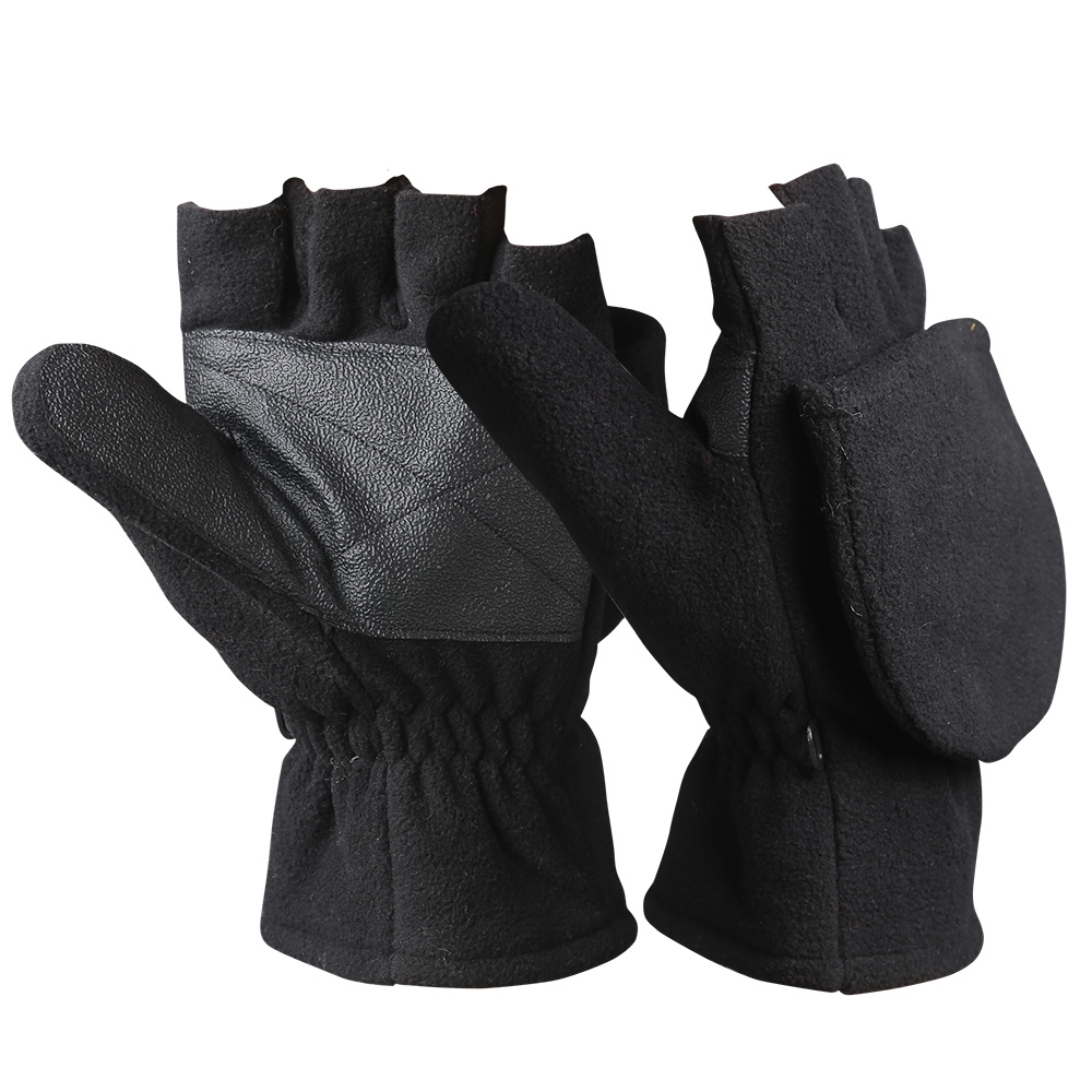 Fingerless Micro Fleece Gloves/WKR-004-B