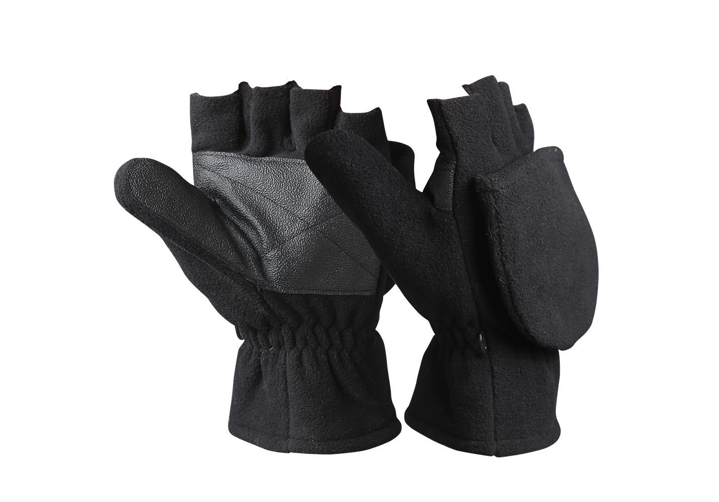 Fingerless Micro Fleece Gloves/WKR-004-B